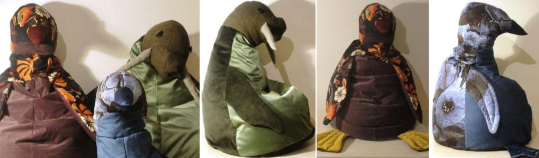 zitzakken voor kinderen - model walrus en pinguïn