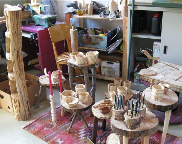 houtsnijwerk en draaiwerk
