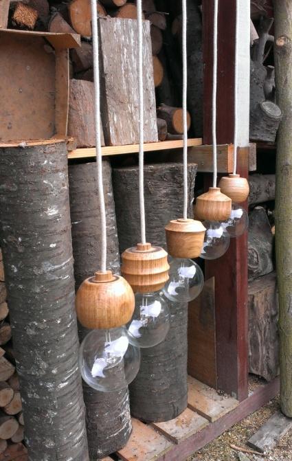 houten lampfittingen  franse eik