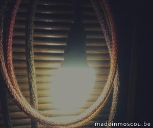 gebreide lamp