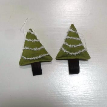 handwerk kerstboompjes voor in de kerstboom