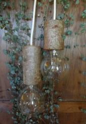 houten lamp - handwerk - berk
