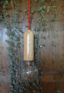 rechte houten lamp - handwerk - eik