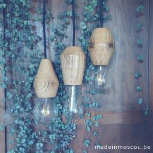 houten lampfittingen eik