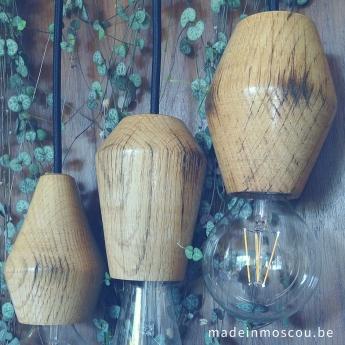 houten lampfittingen - eik