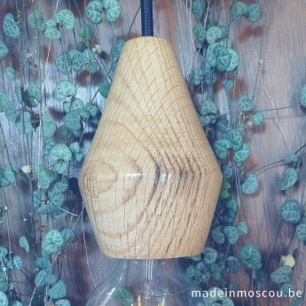 houten lampfitting - eik