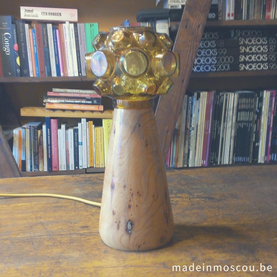 houten lampvoet op maat - taxus
