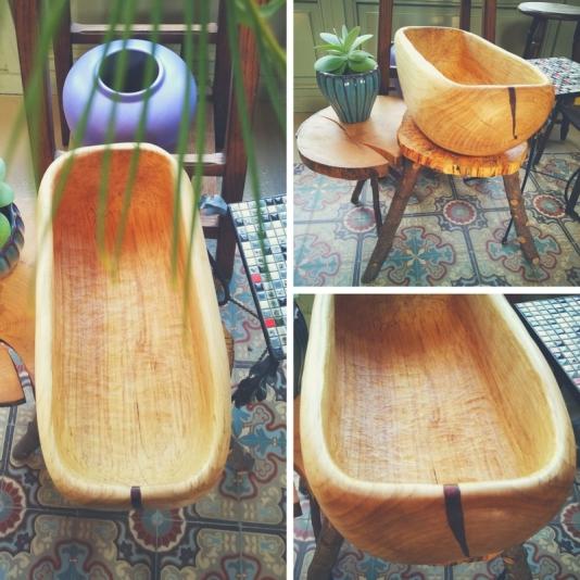 Houten kom - houtsnijwerk