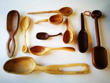 houten handgesneden lepels