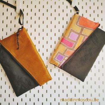 clutches met handgeschilderde zijde en stof Dries Van Noten