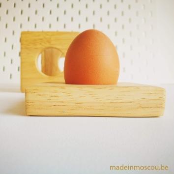 eierdopjes - square - rubberwood