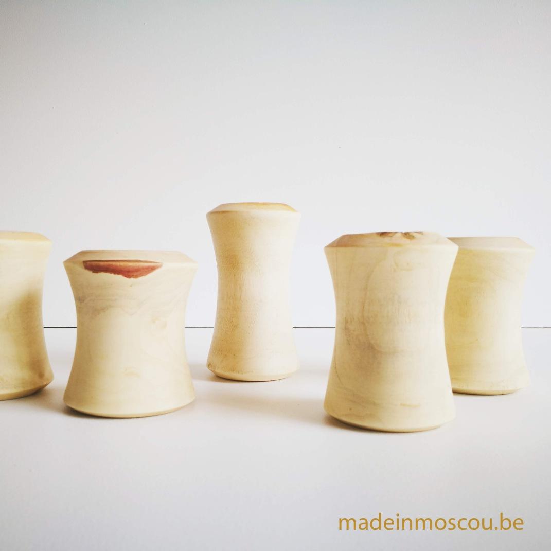 gedraaide houten theelichtjes