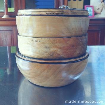houten kommen - kerselaar