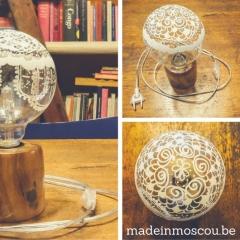 recht houten tafellampje
